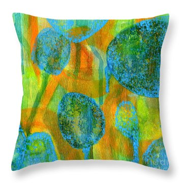 Abstract Painting No. 1 Throw Pillow