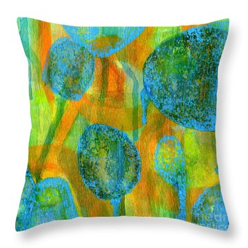 Abstract Painting No. 1 Throw Pillow by David Gordon