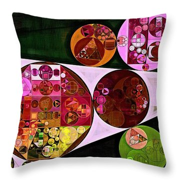 Abstract Painting - Pink Pearl Throw Pillow