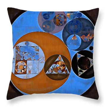 Abstract Painting - Rock Blue Throw Pillow