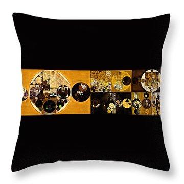 Abstract Painting - Sahara Throw Pillow