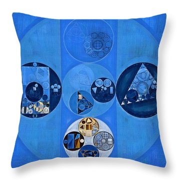 Abstract Painting - Sapphire Throw Pillow