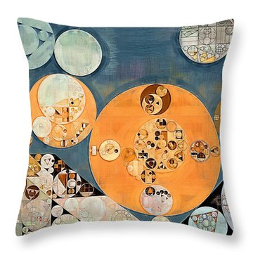 Abstract Painting - Shuttle Grey Throw Pillow