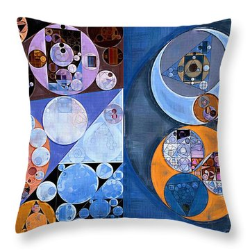 Abstract Painting - St Tropaz Throw Pillow