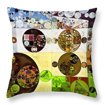 Abstract Painting - Wood Bark Throw Pillow