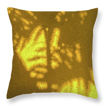 Abstract Palm Throw Pillow