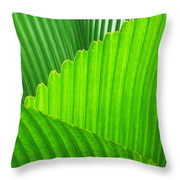 Abstract Palm Leaves Throw Pillow