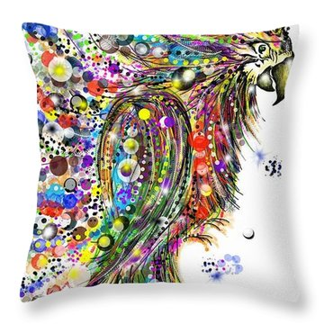 Abstract Parrot Throw Pillow
