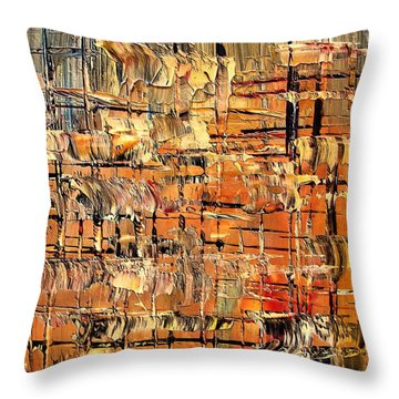 Abstract Part By Rafi Talby Throw Pillow by Rafi Talby