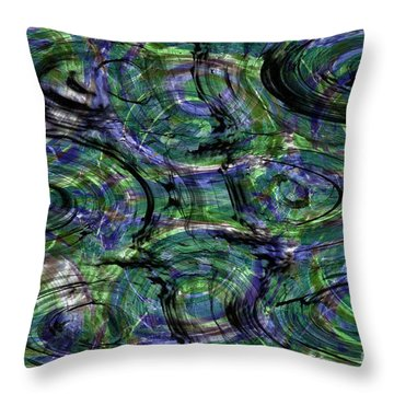 Abstract Pattern 5 Throw Pillow by Jean Bernard Roussilhe