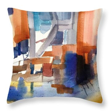 Abstract- Peggy's Cove Throw Pillow