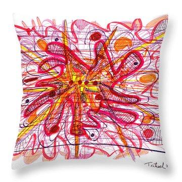 Abstract Pen Drawing Fifteen Throw Pillow by Lynne Taetzsch