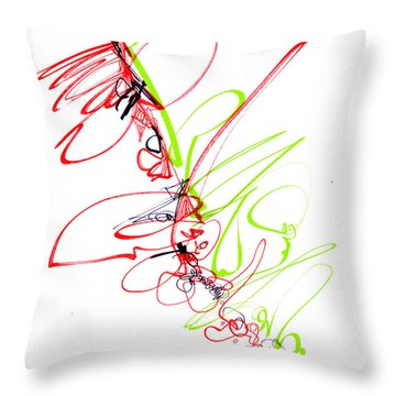 Abstract Pen Drawing Seventy Throw Pillow by Lynne Taetzsch