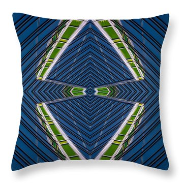 Abstract Photomontage No.10 Throw Pillow by Raymond Kunst