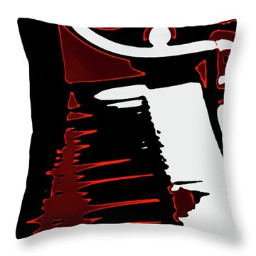 Abstract Piano Throw Pillow