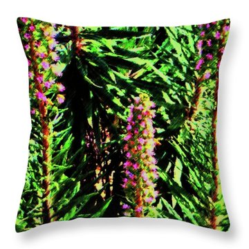 Abstract Plants 83 Throw Pillow
