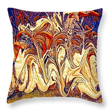 Throw Pillow featuring the mixed media Abstract Digital Art #1 Photography by Renee Anderson