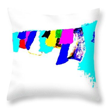 Abstract Prayers Throw Pillow by VIVA Anderson