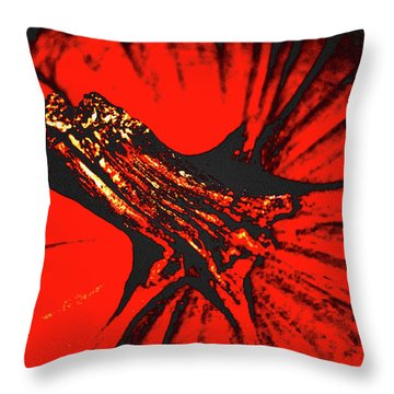 Abstract Pumpkin Stem Throw Pillow