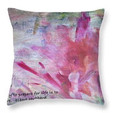Famous Quotes Hubbard Throw Pillow