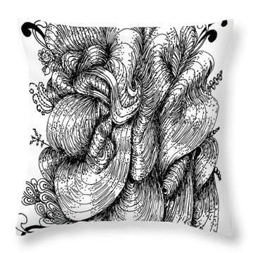 Abstract Throw Pillow by Quwatha Valentine