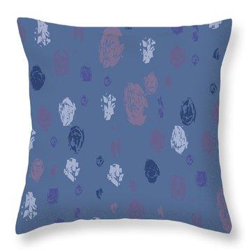 Abstract Rain On Blue Throw Pillow