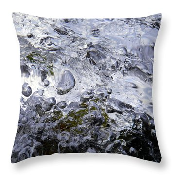 Throw Pillow featuring the photograph Abstract Rapids 3 by Sami Tiainen