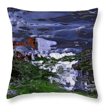 Abstract Rapids Throw Pillow