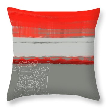 Abstract Red 1 Throw Pillow