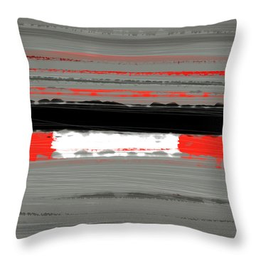 Abstract Red 4 Throw Pillow