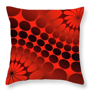 Abstract Red And Black Ornament Throw Pillow