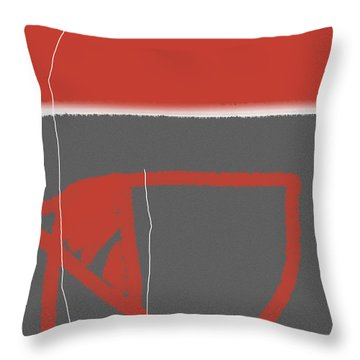 Abstract Red Throw Pillow by Naxart Studio