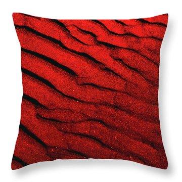 Abstract Red Sand- 2 Throw Pillow