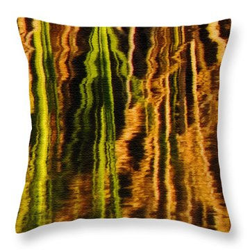 Abstract Reeds Triptych Middle Throw Pillow
