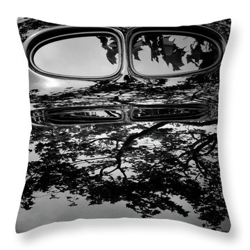 Abstract Reflection Bw Sq II - Vehicle Throw Pillow