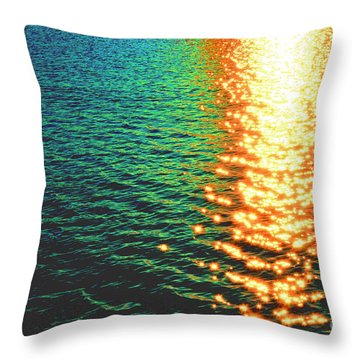 Abstract Reflections Digital Painting #5 - Delaware River Series Throw Pillow