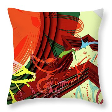 Abstract Rhetoric Throw Pillow