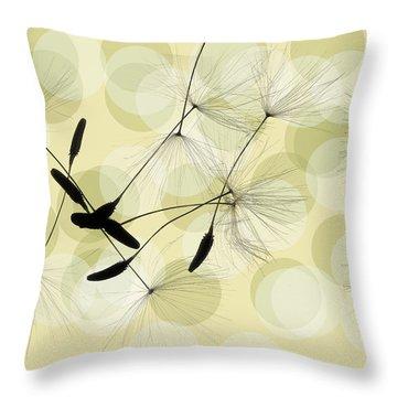 Abstract Botanical Throw Pillow