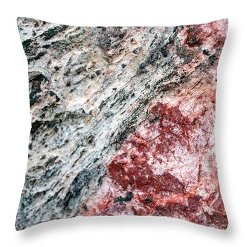 Abstract Rock Marbled Marvel Throw Pillow