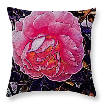 Abstract Rose 11 Throw Pillow