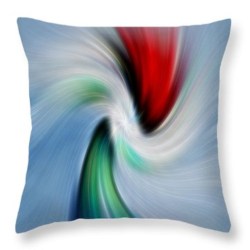 Abstract Rose In A Vase Throw Pillow by Linda Phelps