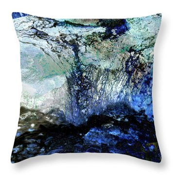 Abstract Runoff Throw Pillow