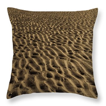 Abstract Sand Throw Pillow