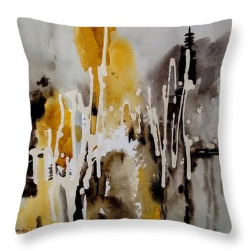 Abstract Scene Throw Pillow