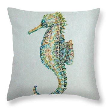 Abstract Seahorse Throw Pillow
