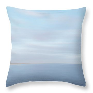 Throw Pillow featuring the photograph Abstract Seascape by Ivy Ho