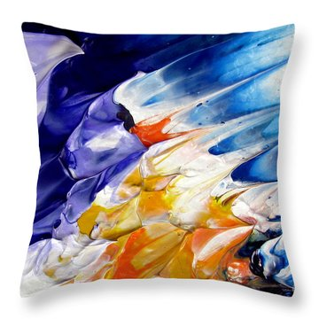 Abstract Series 0615a-4-l1 Throw Pillow
