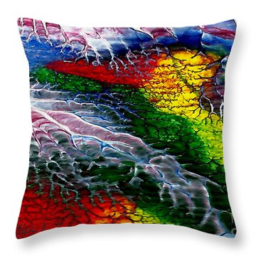 Abstract Series 0615a Throw Pillow
