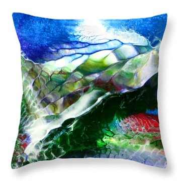 Abstract Series B Throw Pillow