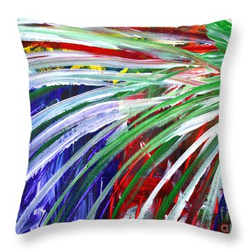 Abstract Series C1015bl Throw Pillow